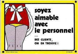 Humour - Soyez Aimable Avec Le Personnel... - Carte Auto-collant Dorchy - Caplain N° Hôtel 4 Bis (non Circulée) - Humor