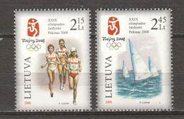 Lithuania Lietuva 2008 Mi 981-982 MNH SUMMER OLYMPICS BEIJING 2008 - Summer 2008: Beijing