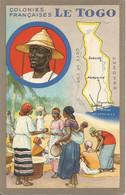 LE  TOGO  -  Colonies  Françaises  /  Carte  Géographique  /  Pub  Edition  Des  Produits  Du  Lion  Noir - Togo