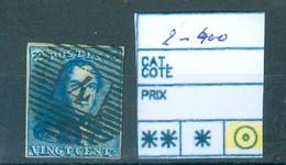 2-400 Obl Très Beau Côte 60€ - 1849 Epaulettes