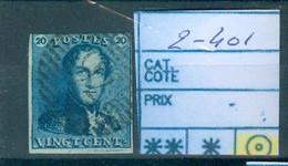 2-401 Obl Très Beau Côte 60€ - 1849 Epaulettes