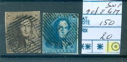1-22-403 Obl Très Beau 4 Marges Côte 150€ - 1849 Epaulettes