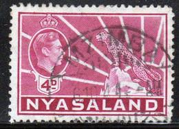 Nyasaland 1938 Single 4d Definitive Stamp. - Nyassaland (1907-1953)