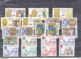 VATICAN 1980 Année Complète Yvert 689-701 + PA 66-72 NEUF** MNH - Nuovi