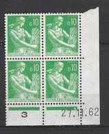 CD 1231 FRANCE 1962 COIN DATE 1231  : 27 11 62    TYPE MOISSONNEUSE - 1960-1969