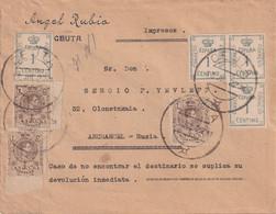 MAROC ESPAGNOL 1922 LETTRE DE CEUTA - Spanish Morocco