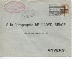 REF3490/ TP Oc 15 S/L;Alex. Linnig Assurances Gand Geprüft C.Etappen Gent 1916 > Anvers - [OC1/25] Gen. Gouv.