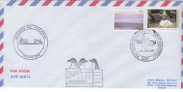 AAT, Lettre Par Avion Obl. Casey Le 10 JAN 94 Sur N° 77, 92 (Pétrel Géant) + Cachets MV Icebird Et Casey - Lettres & Documents