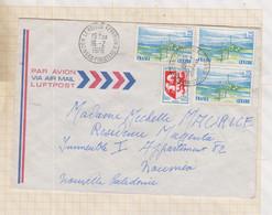 21B385 ENVELOPPE FINISTERE POUR NOUMEA 1976 BLASONS CENTRE - 1961-....
