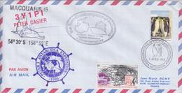 AAT, Lettre Par Avion Obl. Macquarie Is. Le 14 FEB 94 Sur N° 94 (Empereur) + Cachets Kapitan Khlebnikov, Peter 1... - Lettres & Documents