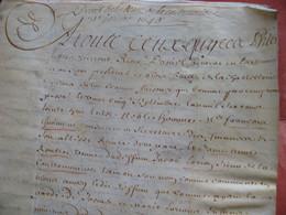 Manuscrit 1640 Décret De La Coulomière Lorion Sieur De La Coullommiere Guimont Conseiller Du ROI Région Blois 80p Velin - Historical Documents