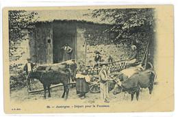 CPA 63 AUVERGNE DEPART POUR LA FENAISON - Auvergne Types D'Auvergne