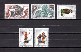 Mónaco    1984    Y&T Nº     1435/1436-1437-1439-1445 - Used Stamps