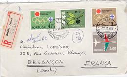 PORTUGAL  : Europa Et JO Tokyo Sur Lettre Recommandée Pour La France - Briefe U. Dokumente