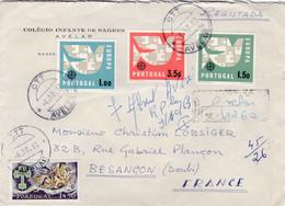 """PORTUGAL :  Europa Sur Recommandé Provisoire Du  """" Colégio Infante De Sagrès """" Avelar Pour La France - Briefe U. Dokumente"""