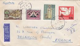 PORTUGAL :  Europa Sur Recommandé Provisoire  Pour La France - Briefe U. Dokumente