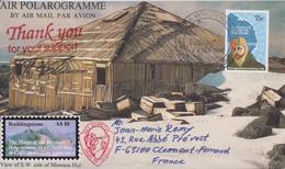 AAT, Polarogramme (the Mawson Hut) Obl. Mawson Le 28 SEP 94 Sur TP 54 + 3 Cachets Au Verso - Lettres & Documents
