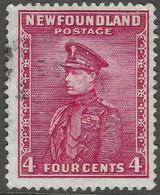 Newfoundland. 1932-38 Definitives. 4c Used P 13½ SG 224 - 1908-1947
