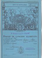FOGLIO DI CONGEDO ILLIMITATO - REGIO ESERCITO ITALIANO. 1° REGGIMENTO ALPINI.  MONDOVI' 1936 - Documents