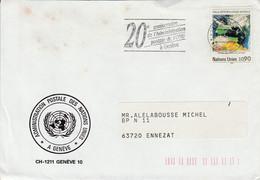 NATIONS UNIES LETTRE DE GENEVE POUR LA FRANCE 1989 - Cartas