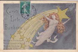 Cpa - Illustrateur A Definir ( Style Mucha )- Comete Porte Bonheur - - Zonder Classificatie