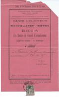 TIMBRE A 1 CT AU TYPE SAGE 1895 TARIF CARTE D'ELECTEUR - 1877-1920: Semi-moderne Periode