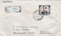 PORTUGAL :  Roi Dom Pédro V Sur Recommandé Provisoire D'Avelar Pour La France - Briefe U. Dokumente