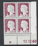 CD 1263  FRANCE 1960 COIN DATE 1263  : 13 12 60   TYPE MARIANNE DE DECARIS - 1960-1969