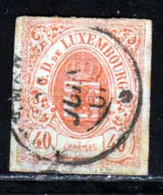 Luxembourg 1865 Yvert 23 (o) B Oblitere(s) - 1859-1880 Coat Of Arms