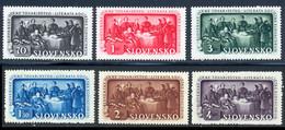 Slovaquie 1942 Yvert 77 / 82 ** TB Coin De Feuille - Nuevos