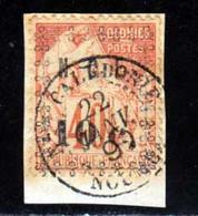Nouvelle-Caledonie 1891 Yvert 13 (o) B Oblitere(s) - Usados
