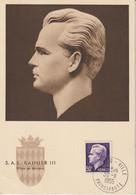 Monaco Carte Maximum 1950-51 Rainier IIl 344 - Cartoline Maximum