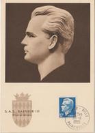 Monaco Carte Maximum 1950-51 Rainier IIl 347 - Cartoline Maximum