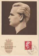 Monaco Carte Maximum 1950-51 Rainier IIl 348 - Cartoline Maximum