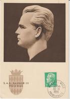 Monaco Carte Maximum 1950-51 Rainier IIl 349 - Cartoline Maximum