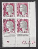 CD 1263 FRANCE 1964 COIN DATE 1263  : 23 7 64 TYPE MARIANNE DE DECARIS - 1960-1969
