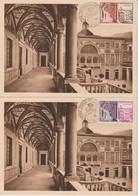 Monaco Carte Maximum 1952 Musée Postal 383-385 - Cartoline Maximum