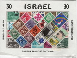 Israel , Souvenir Pack , 30 Used Stamps - Collections, Lots & Séries