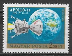 Hungary 1970. Scott #C308(b) (U) Apollo 13, Return To Earth - Gebruikt