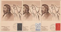 Monaco Carte Maximum 1954  A F Ozanam 399-401 - Maximum Cards