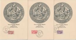 Monaco Carte Maximum 1955 Sceau Du Prince 415-419 - Cartoline Maximum
