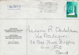 NATIONS UNIES LETTRE DE GENEVE POUR LA FRANCE - Cartas