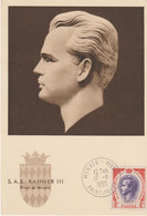Monaco Carte Maximum 1955 Rainier III 422 - Cartes-Maximum (CM)