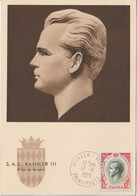 Monaco Carte Maximum 1955 Rainier III 423 - Cartes-Maximum (CM)