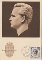 Monaco Carte Maximum 1955 Rainier III 426 - Cartes-Maximum (CM)