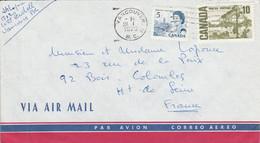 CANADA AFFRANCHISSEMENT COMPOSE SUR LETTRE POUR LA FRANCE 1973 - Cartas