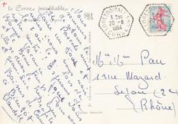 CORSE CP 1964 LORETO DI TALLANO AGENCE POSTALE 107 HABITANTS EN 1962 - 1961-....
