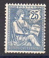 France - YT N* 127* - Mouchon 25c Bleu ,GNO? - 1900-02 Mouchon