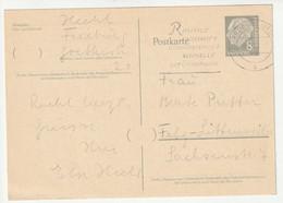 Bund 1957 Ganzsache 8 Pf. Heuss Michel Nr. P30, Gestempelt 9.11.59 - Postcards - Used