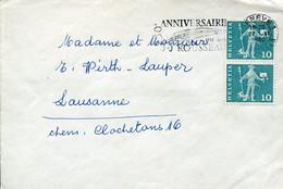 62308 Switzerland Circuled Cover 1962  250^anniversaire  J.j. Rousseau - Briefe U. Dokumente
